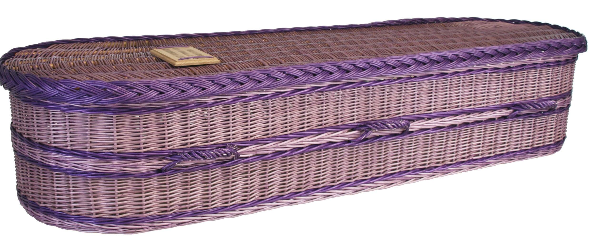 wicker coffin
