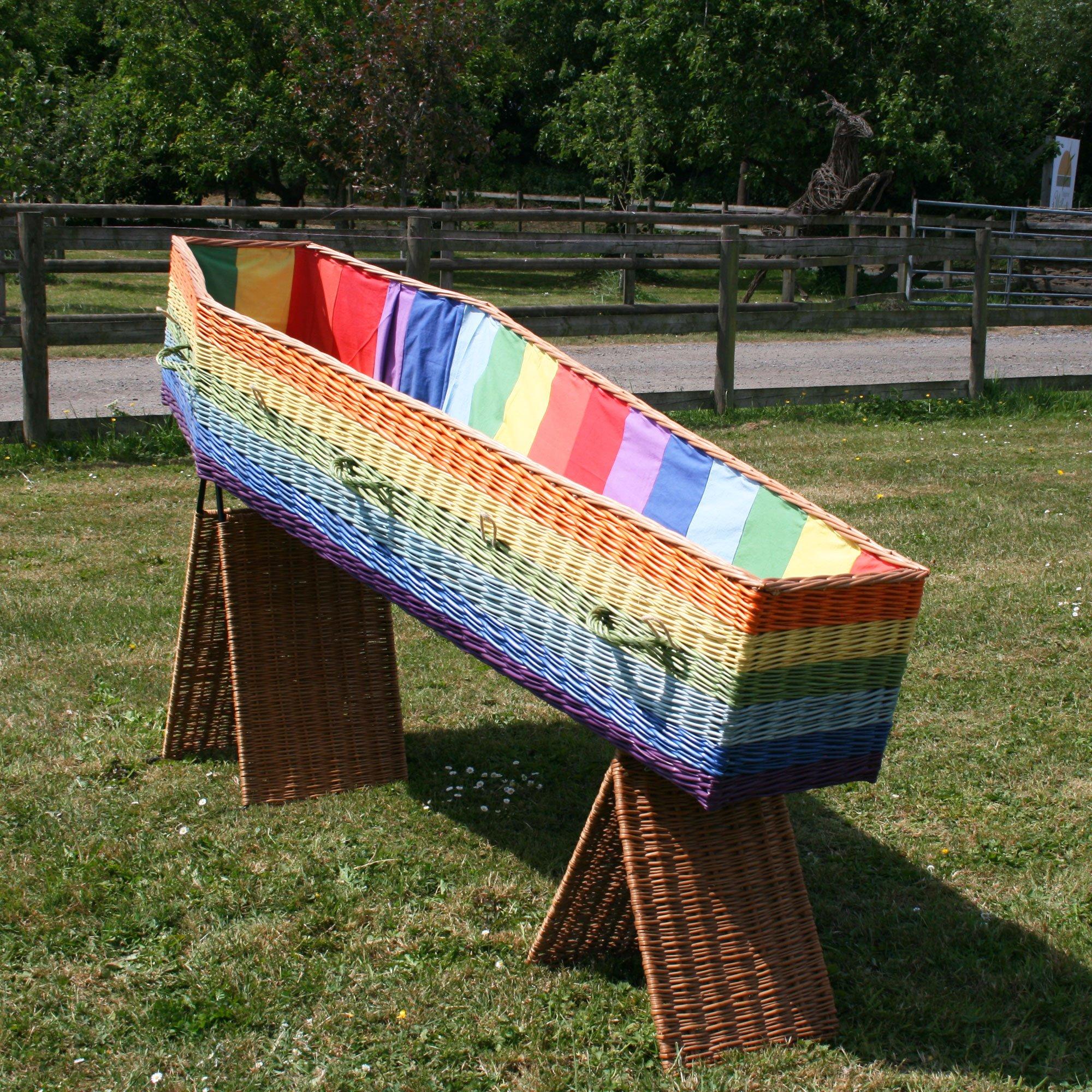 coloured coffin