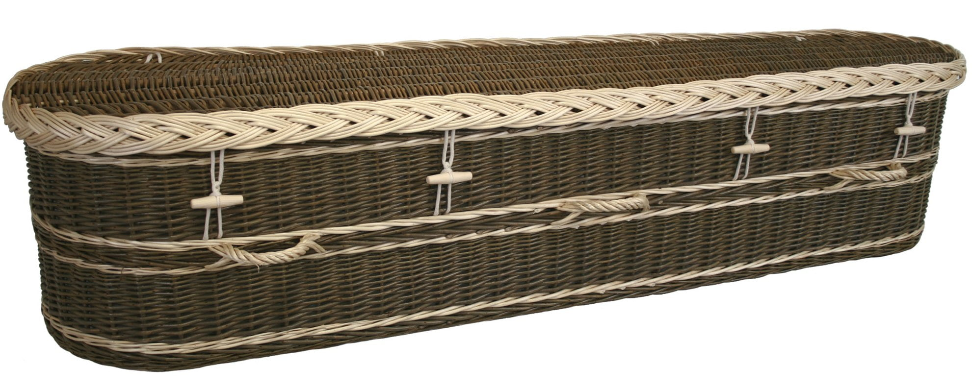 Biodegradable willow coffin