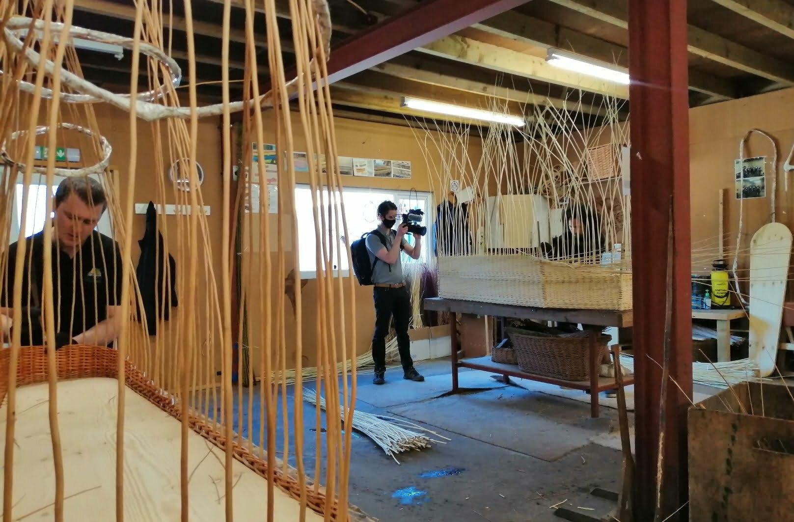 Weaving willow coffins