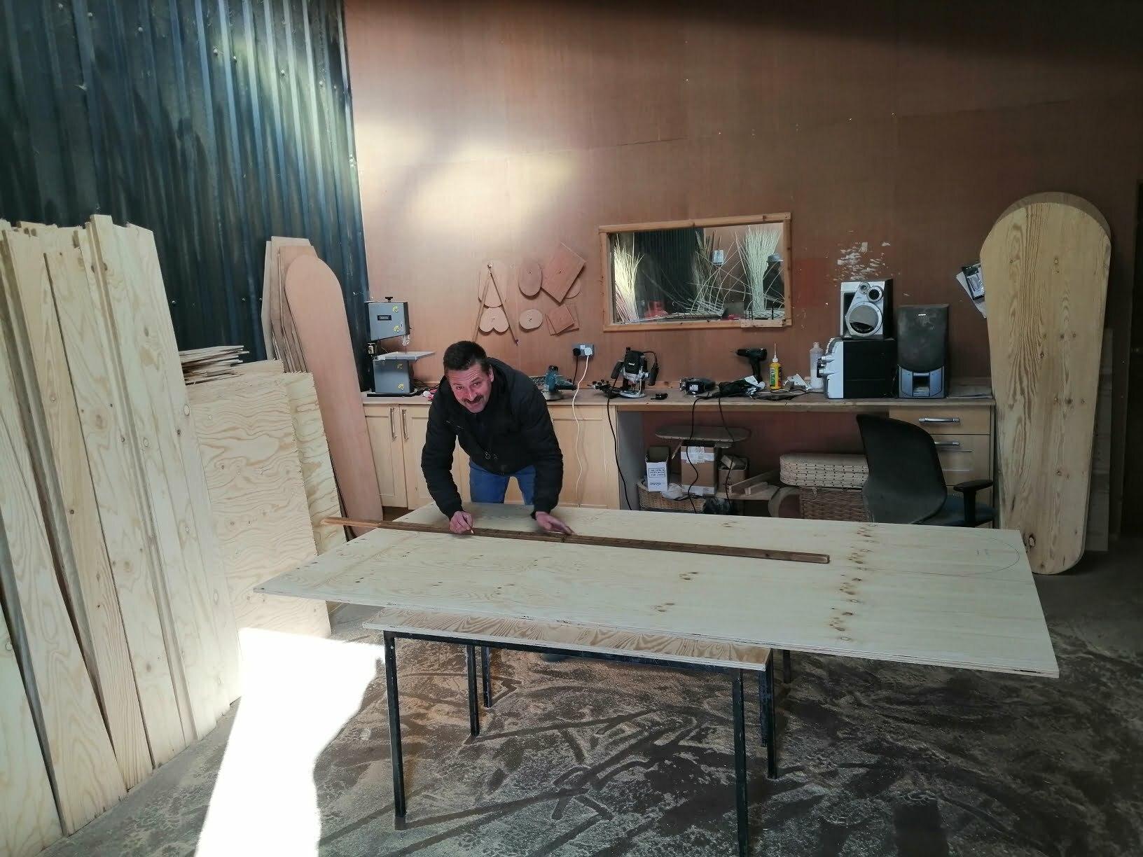 Making a coffin base